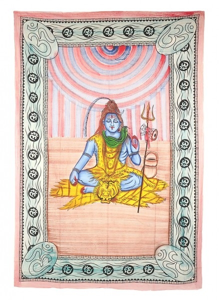 "Motivdecke Batik ""Shiva"""