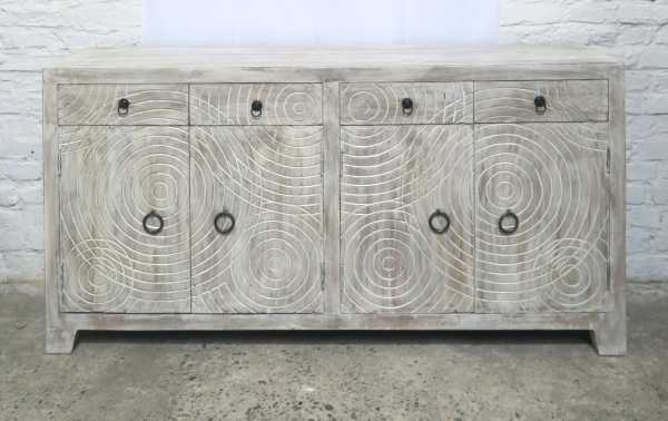 Sideboard Shabby Chic Circle Carving