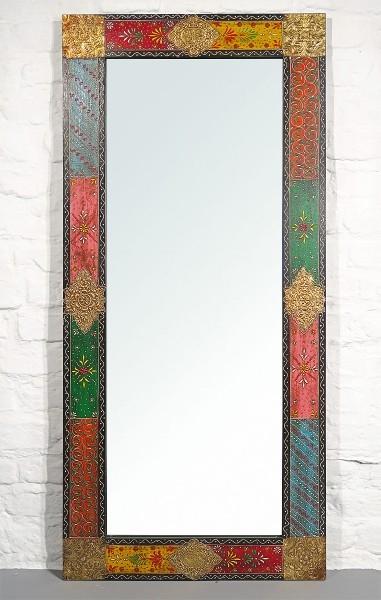 Spiegel bemalt mit Metallapplikation