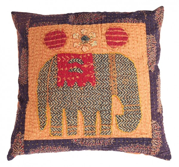 "Applique Kissenhülle ""Elefant"" OB"