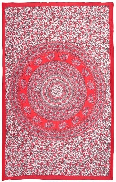 "Elefanten Mandala ""Red"" Tages-Decke"