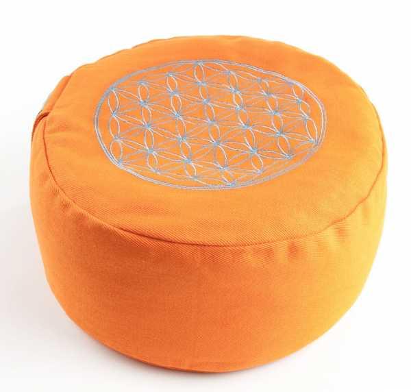 Blume des Lebens Meditationskissen orange