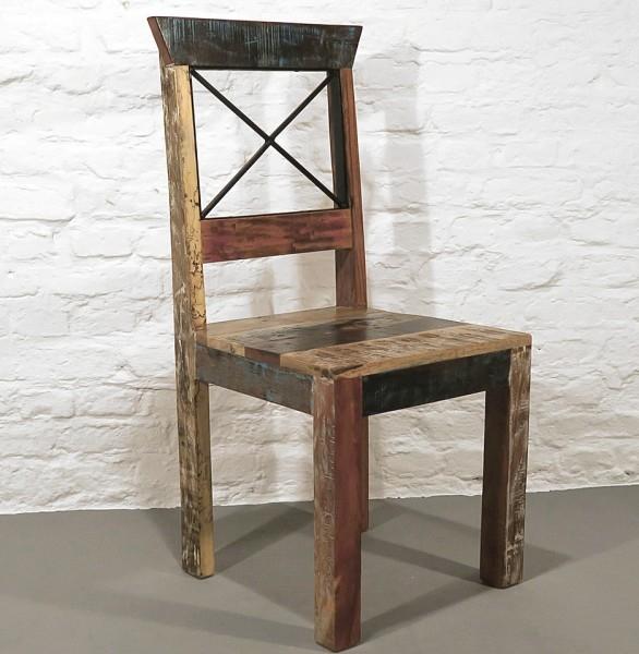 Stuhl Massiv Recycle Holz