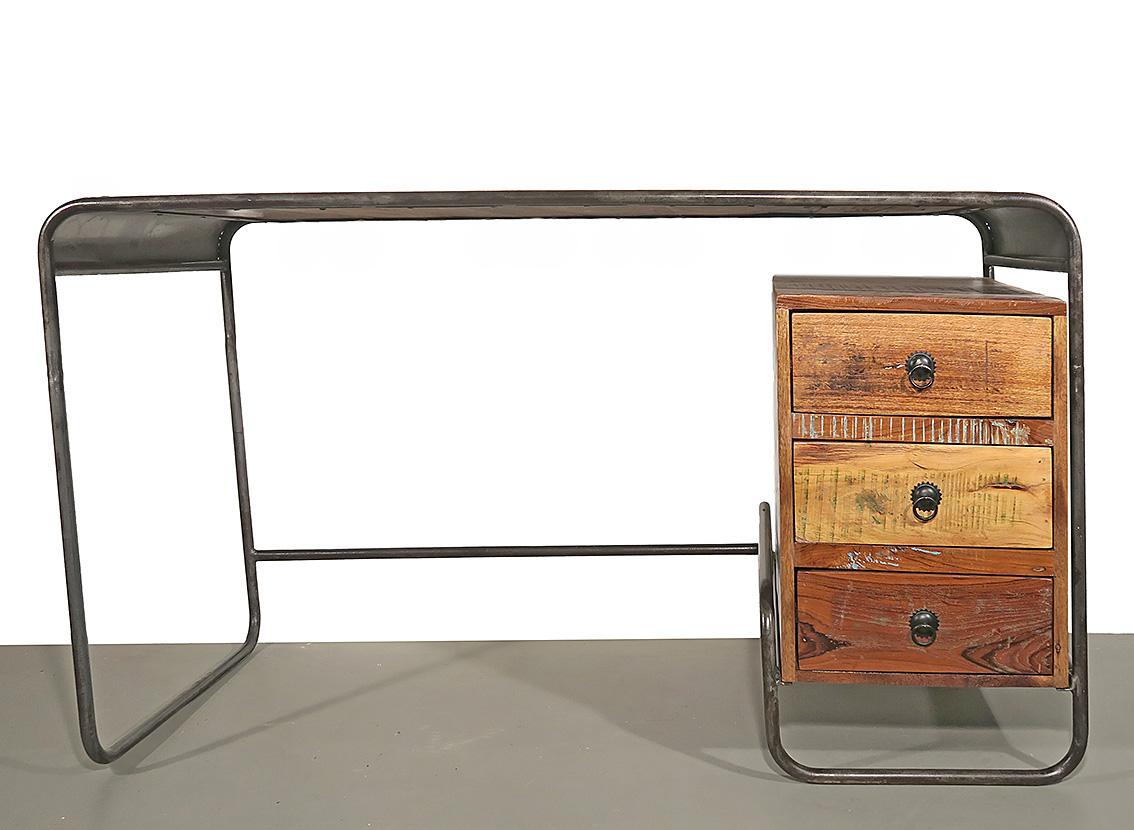schreibtisch recycle holz oh calcutta. Black Bedroom Furniture Sets. Home Design Ideas