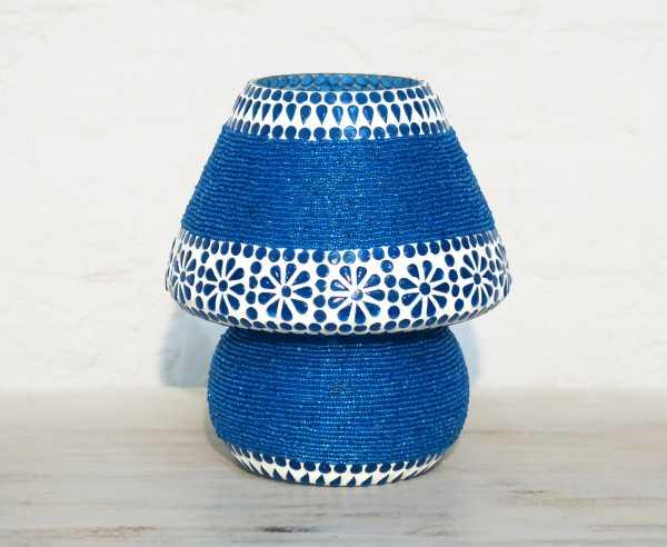 Tischleuchte blau