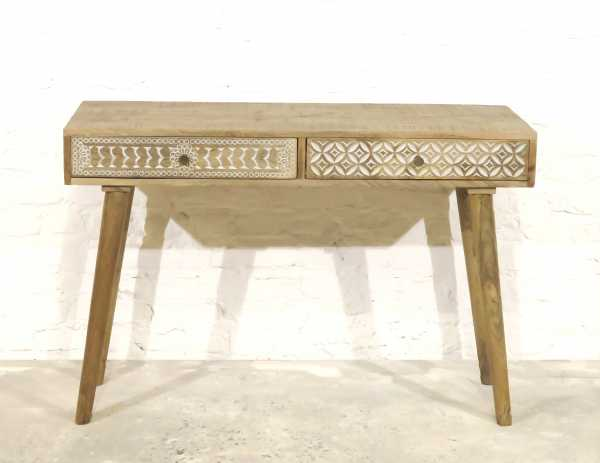 Schreibtisch Konsole Akazienholz