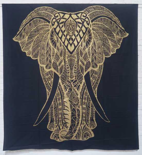 Tagesdecke Golden Elefant