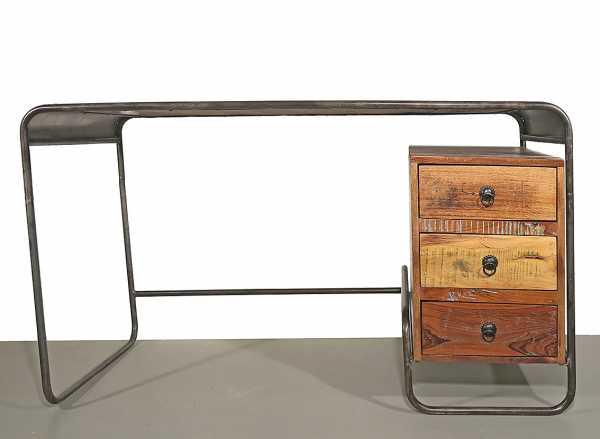 Schreibtisch Industrial Holz / Metall