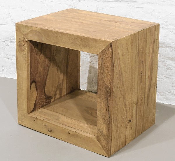 Holzcube massiv Sheesham