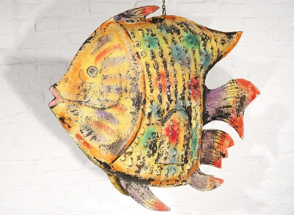 Deko Fisch Metall