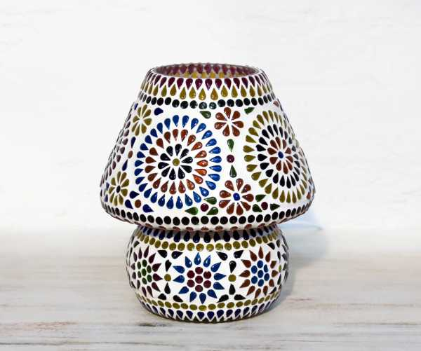 Glaslampe Mosaik Multicolor